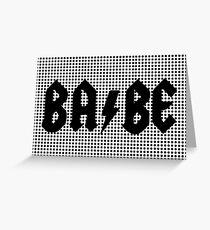 Rock Babe Greeting Card