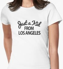 Just a kid from Los Angeles LA Women's Fitted T-Shirt