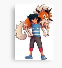 Ash with Dusk Lycanroc Canvas Print