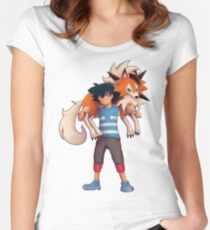 Ash with Dusk Lycanroc Women's Fitted Scoop T-Shirt