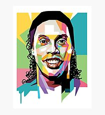 ronaldinho head sticker Photographic Print