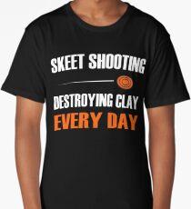 Fun Skeet Shooting Shirt | Destroying Clay Long T-Shirt