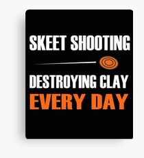 Fun Skeet Shooting Shirt | Destroying Clay Canvas Print
