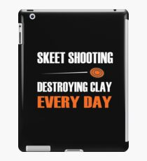 Fun Skeet Shooting Shirt | Destroying Clay iPad Case/Skin