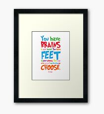 Oh! The Places You'll Go Dr. Seuss Framed Print