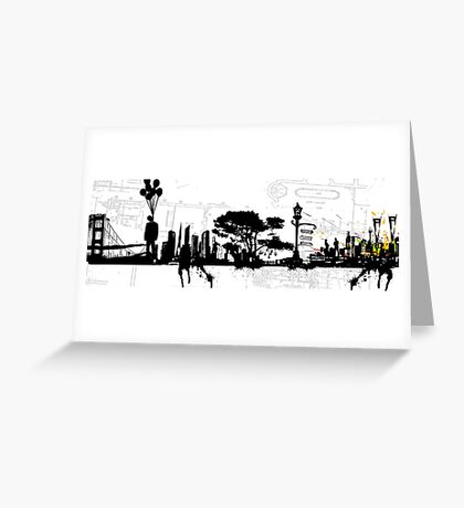 city suicide Greeting Card