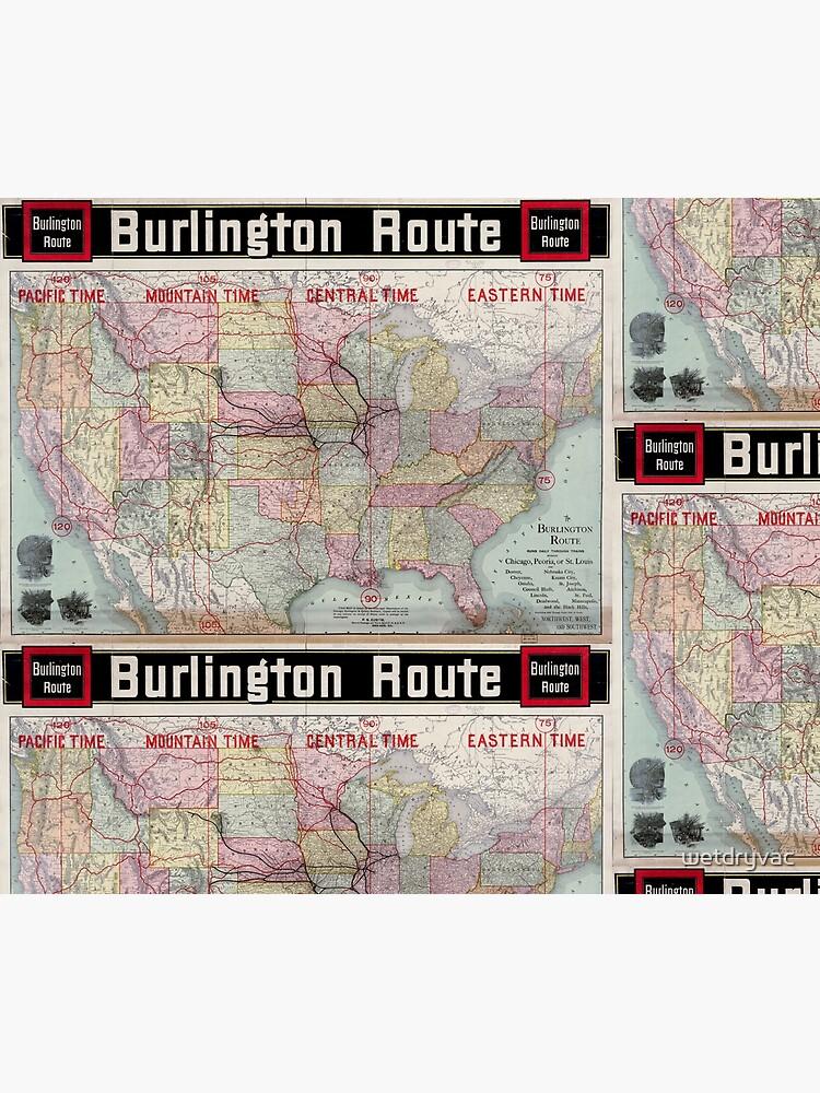 0218 Railroad Maps Burlington de wetdryvac
