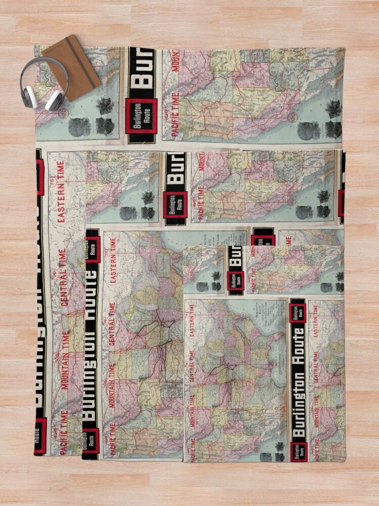 Vista alternativa de Manta 0218 Railroad Maps Burlington