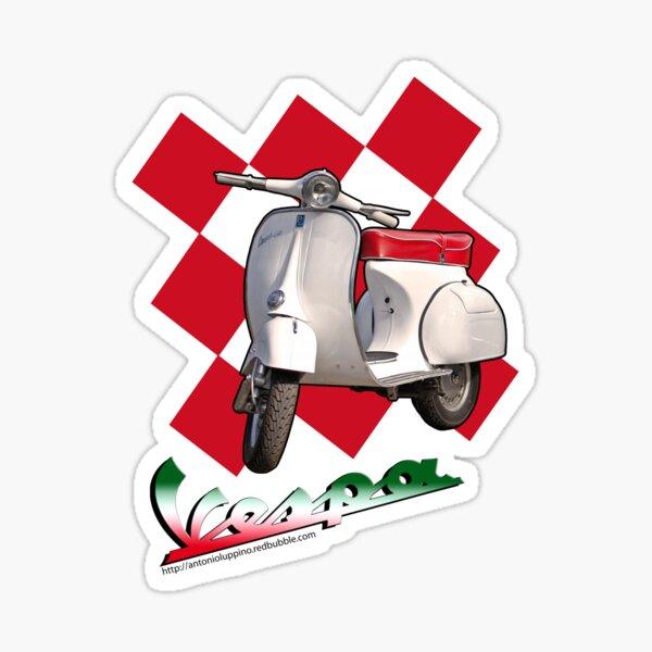 5 Autocollant 4cm Target Mod Italie Piaggio Vespa Scooter Auto Moto Scooter