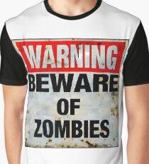 Beware of Zombies Graphic T-Shirt