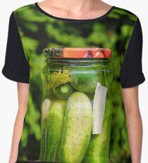 Homemade pickled cucumber Women's Chiffon Top