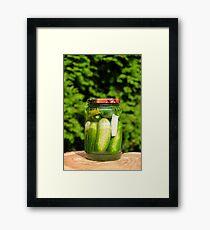 Homemade pickled cucumber Framed Print