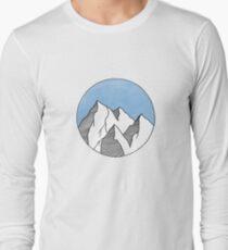 Blue Mountain Circle Long Sleeve T-Shirt