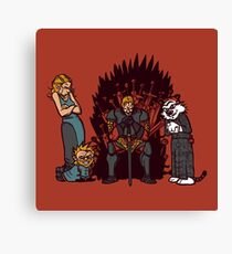Game of Conspiracy Canvas Print