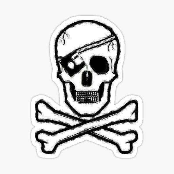 Hacker Skull Sticker Sticker