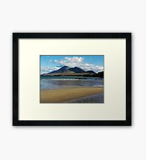 Croagh Patrick beach view Framed Print
