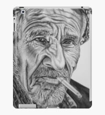 Old Arab Man Charcoal Drawing  iPad Case/Skin