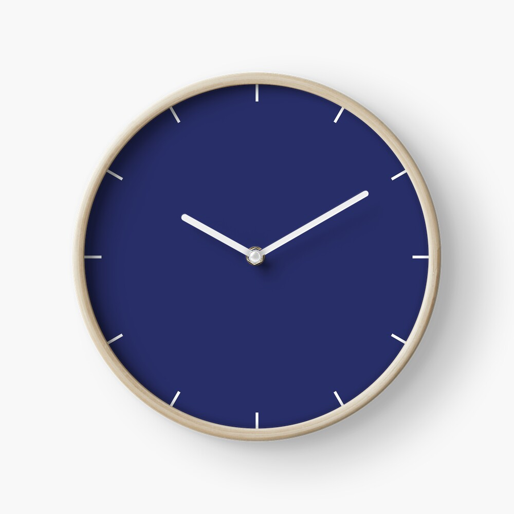 Navy Blue | Dark Blue | Solid Color |  Clock