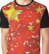 China Grunge Vintage Flag Graphic T-Shirt