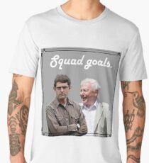 Louis Theroux + Sir David Attenborough Men's Premium T-Shirt