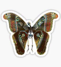 Butterfly Skeleton Sticker