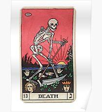 Tarot card death Poster