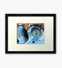 The eyeyOlk is so mysterious it could rip the very fabric of time and space Framed Print