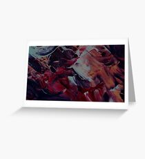 Abstract Brush Painting Greeting Card