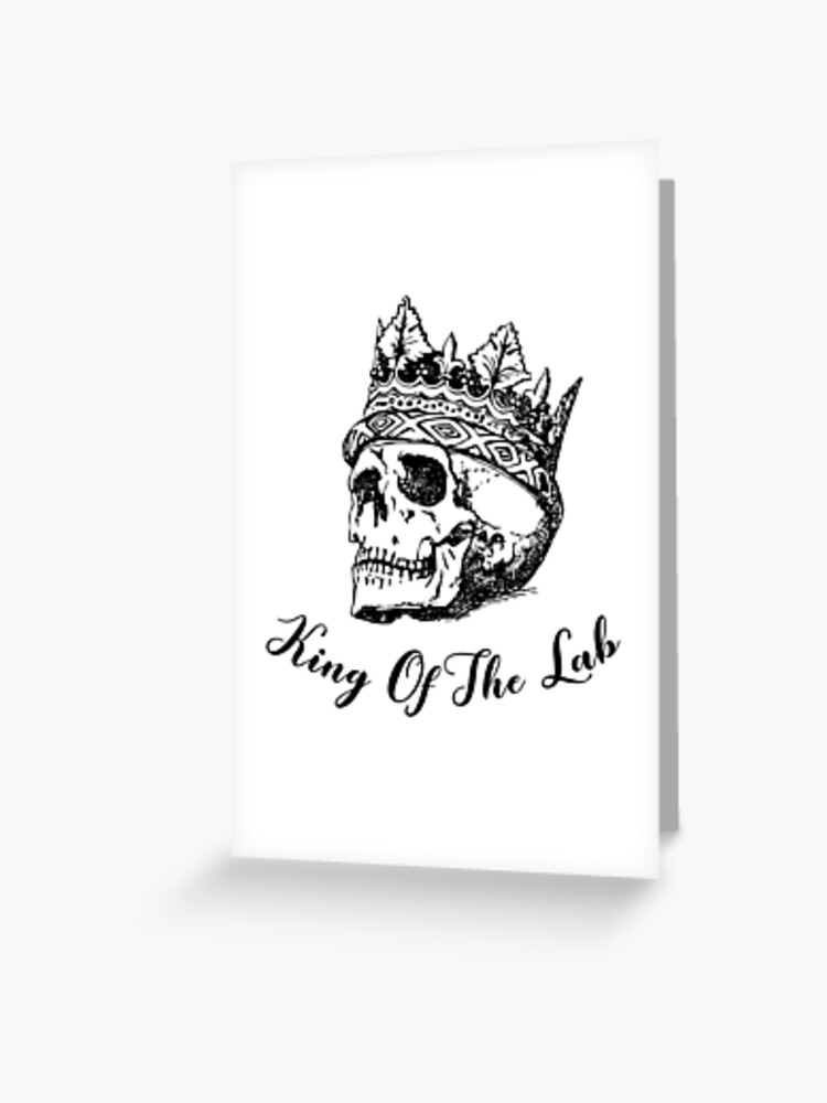 King Of The Lab Bones Tv Show Greeting Card By Hayadesigns Redbubble