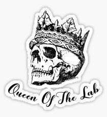 Queen of the Lab (Bones) Sticker