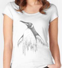 Digital Penguin  Women's Fitted Scoop T-Shirt