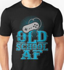 Old School AF Gift Idea For Gamers Video Game Lovers Players Gaming T-Shirt