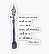 Some Journeys C.S. Lewis Quote Sticker