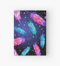 Featrers on Black Hardcover Journal