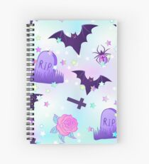 Kawaii funny spooky pattern Spiral Notebook