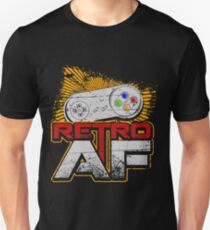 Retro AF Gift Idea For Gamers Video Game Lovers Players Gaming T-Shirt