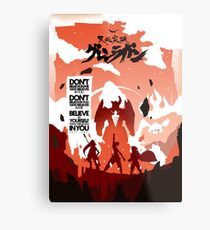 Skizorr - Gurren Lagann (Movie Poster) Metal Print