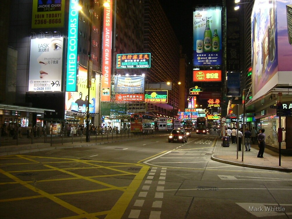 Hong Kong at night by Mark Whittle