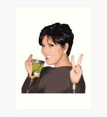 Lámina artística Kris Jenner