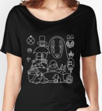 Ghibli in black Women's Relaxed Fit T-Shirt