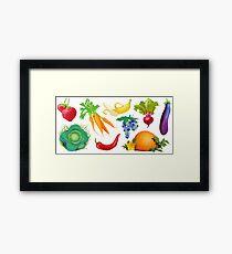 Crops Framed Print