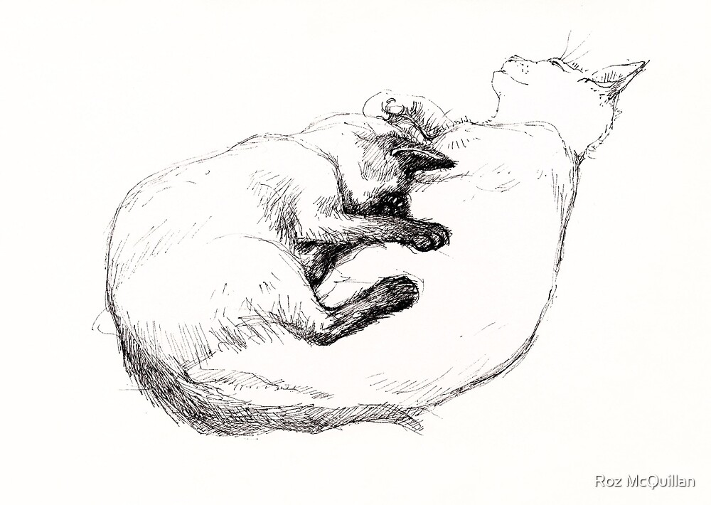 Two Loving Cats by Roz McQuillan