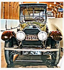 1918 Cadillac Limousine With NY Name On License Poster