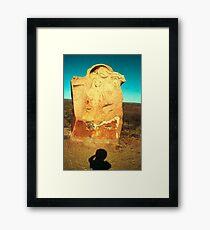 mother and child ..... desert dwellers Framed Print