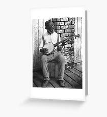Banjo Man Greeting Card