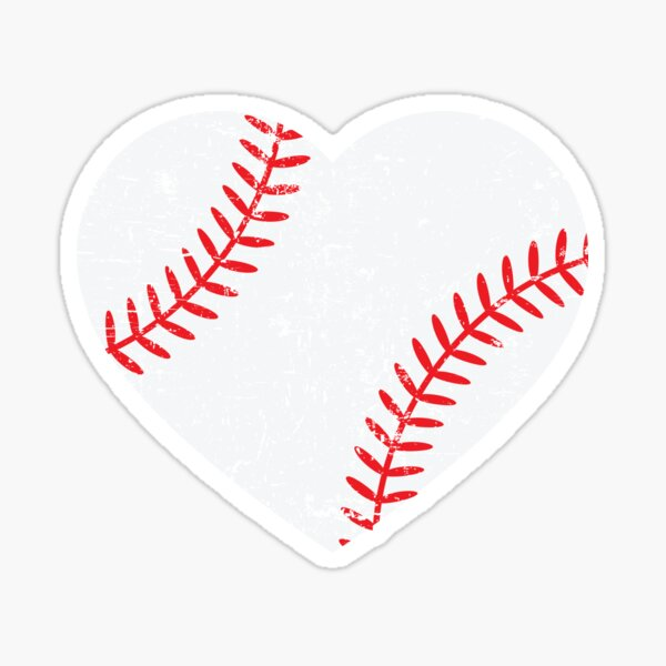 Baseball Heart T-Shirt Softball Lover Tee Baseball Mom Shirt Sticker