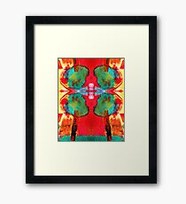 Green Tree Red Sky Framed Print