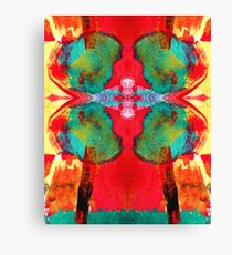 Green Tree Red Sky Canvas Print