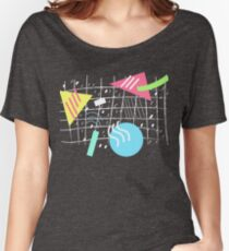 Memphis Style Vibes (Dark) Women's Relaxed Fit T-Shirt