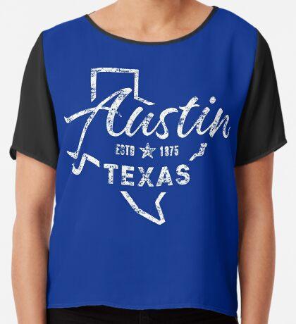Austin Texas Chiffon Top